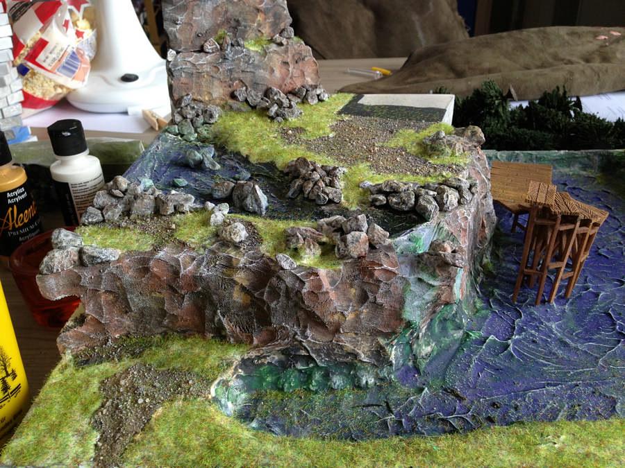 Waterval met statisch gras