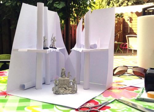 Casket of Souls papieren model op een Zomerse zondagmiddag