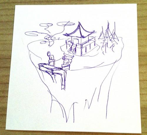 Floating Pagoda schets 2