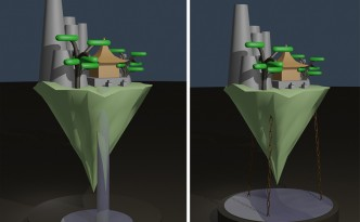 Scenery Workshop Floating Pagoda twee opties