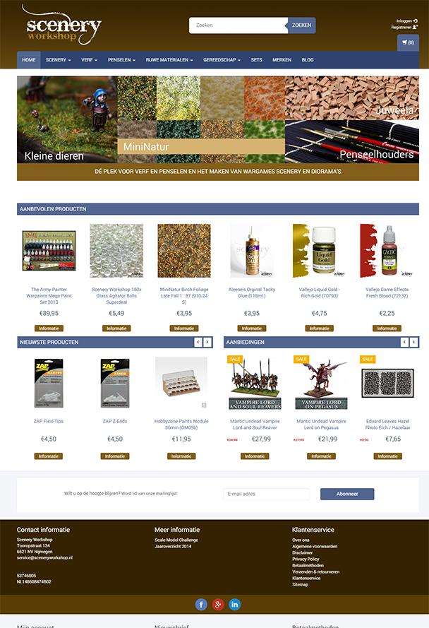 Aanbiedingen en nieuwe producten zichtbaar op de homepage